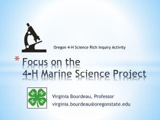 Focus on the  4-H  Marine Science Project