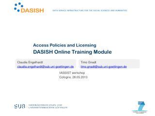 DASISH Online Training Module