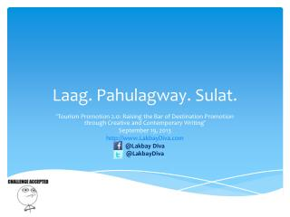 Laag .  Pahulagway .  Sulat .