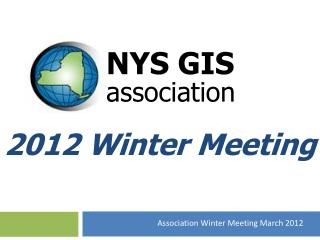 2012 Winter Meeting