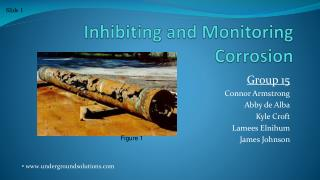Inhibiting and Monitoring Corrosion