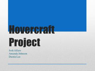 Hovercraft Project