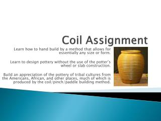 Coil Assignment