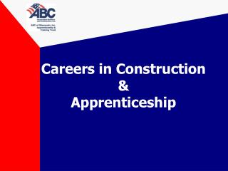 Careers in  Construction & Apprenticeship