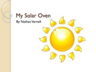 My Solar Oven