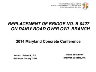 DEPARTMENT  OF PUBLIC WORKS BUREAU OF ENGINEERING & CONSTRUCTION STRUCTURAL DESIGN SECTION