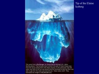 Tip of the  Elaine Iceberg