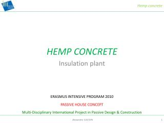 HEMP CONCRETE
