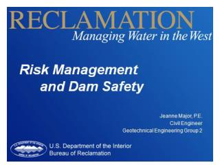 Risk Management  and Dam Safety