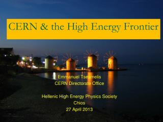 CERN & the High Energy Frontier