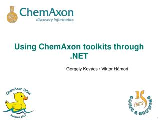 Using ChemAxon toolkits through .NET