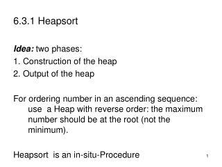 6.3.1 Heapsort