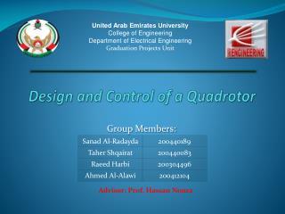 Design and Control of a Quadrotor