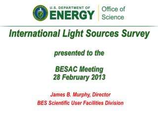 International Light Sources Survey presented  to the BESAC  Meeting 28 February 2013