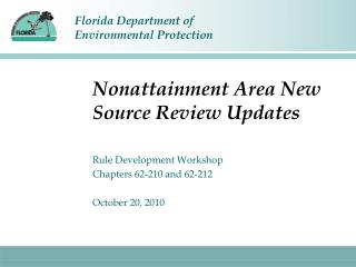 Nonattainment Area New Source Review Updates