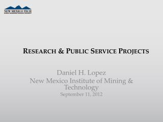 Research & Public Service Projects