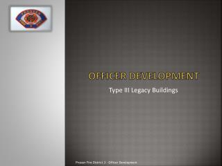 Officer Development