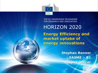Energy Efficiency and market uptake of energy innovations
