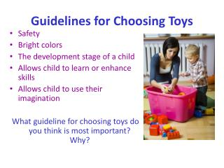 Guidelines for Choosing Toys