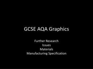 GCSE AQA Graphics