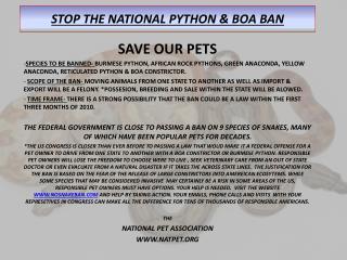 stop the national python  boa ban