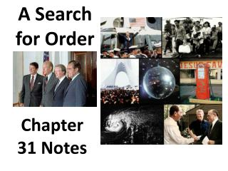 A Search for Order