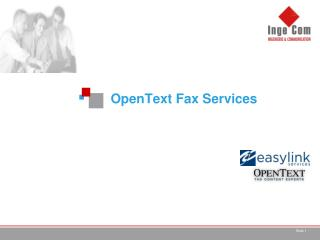 OpenText  Fax Services