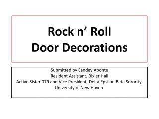 Rock n' Roll  Door Decorations