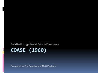 Coase  (1960)