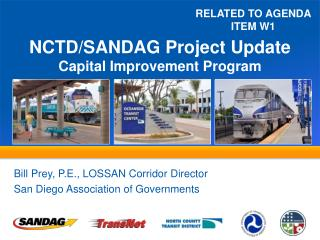NCTD/SANDAG Project  Update Capital  Improvement Program