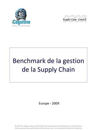 Benchmark de la gestion de la Supply Chain