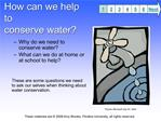 how can we help to conserve water