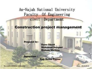 An- Najah  National University Faculty  Of Engineering civil   Department