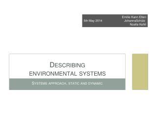 Describing  environmental systems