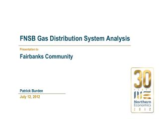 FNSB Gas Distribution System Analysis