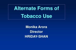 alternate forms of tobacco use