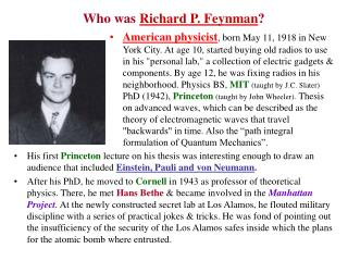 who was richard p. feynman
