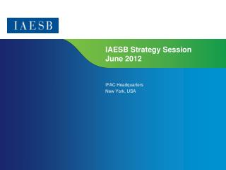 IAESB Strategy Session June 2012