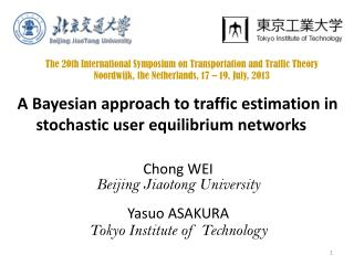 A Bayesian approach to traffic estimation in stochastic user equilibrium networks
