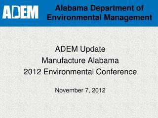Alabama Department of Environmental Management