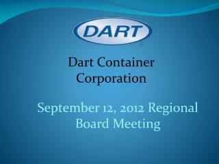 September 12, 2012 Regional Board Meeting