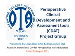 perioperative clinical development and assessment tools cdat project group
