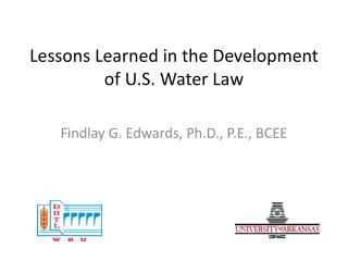Lessons Learned in the Development of U.S. Water Law