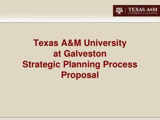 Texas A&M University  at Galveston Strategic Planning Process Proposal