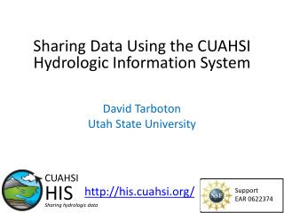 Sharing Data Using the CUAHSI Hydrologic Information System