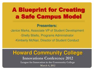 A Blueprint for Creating a Safe Campus Model