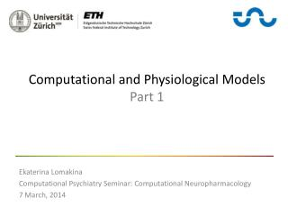 Computational and Physiological Models  Part 1