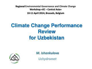 Climate Change Performance Review for Uzbekistan