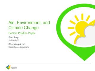climate change paper presentation