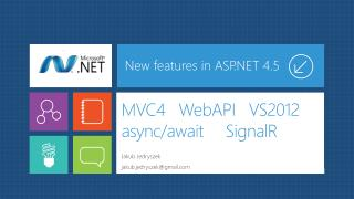 MVC4    WebAPI    VS2012  async / await SignalR